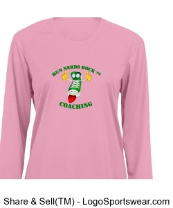 Badger B-Core Ladies Long Sleeve T-shirt Design Zoom