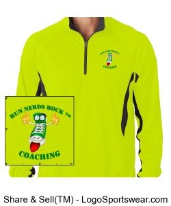 Cool and Dry Color Block Dimple 1/4 Zip Pullover Design Zoom
